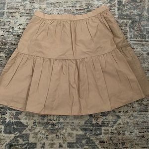 Mini khaki skirt